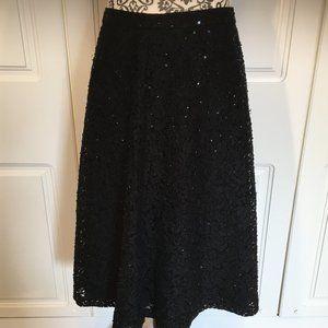 Michael Kors beaded lace black skirt size 4